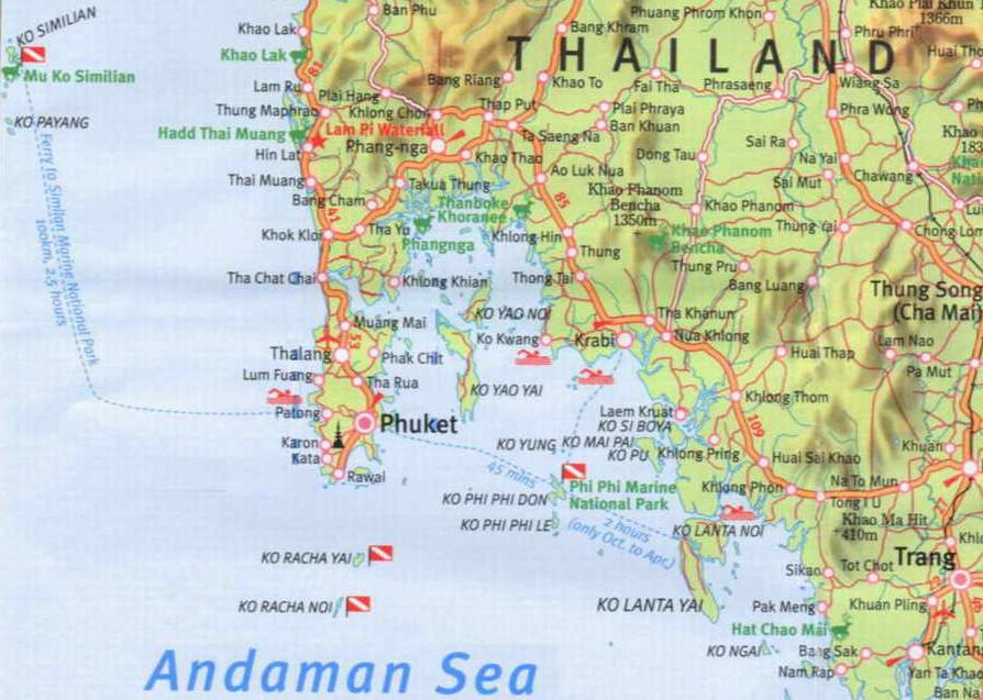 Sydvest Thailand